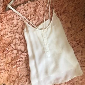 Anthropologie White Tank
